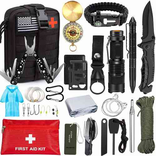 18 in 1 Emergency Survival Kit Professional Tactical Equitment Tools Outdoor UK